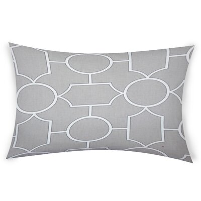 Colston Cotton Lumbar Pillow Color: White