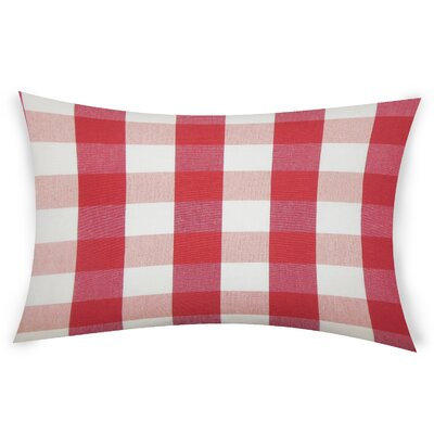 Feeney Cotton Lumbar Pillow Color: Red