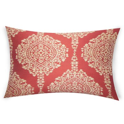 Erdenheim Cotton Lumbar Pillow Color: Red