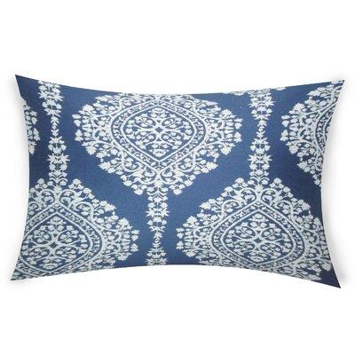 Erdenheim Cotton Lumbar Pillow Color: Blue