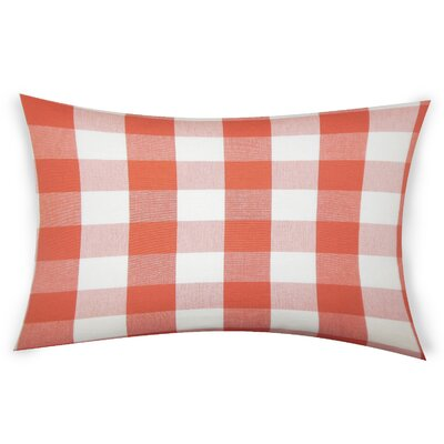 Feeney Cotton Lumbar Pillow Color: Orange