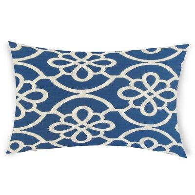 Escamilla Cotton Throw Pillow Color: Blue
