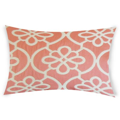 Escamilla Cotton Throw Pillow Color: Coral