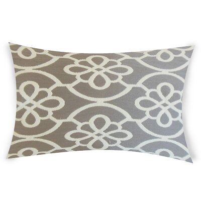 Escamilla Cotton Throw Pillow Color: Gray