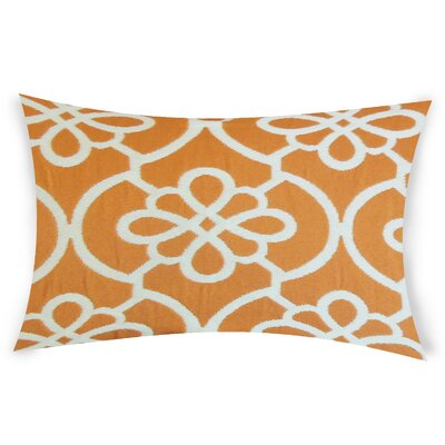 Escamilla Cotton Throw Pillow Color: Orange