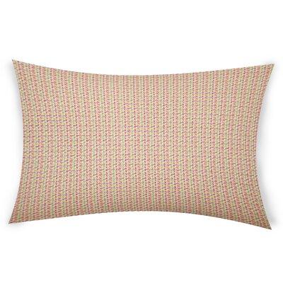 Escudero Cotton Lumbar Pillow Color: Pink