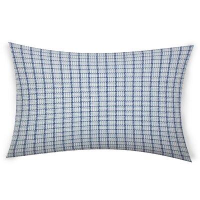 Esmont Cotton Lumbar Pillow Color: Blue