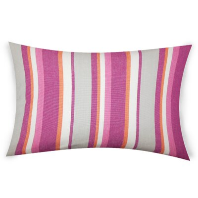 Hazlett Cotton Lumbar Pillow Color: Pink