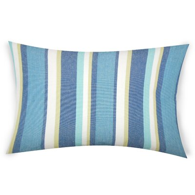 Hazlett Cotton Lumbar Pillow Color: Blue