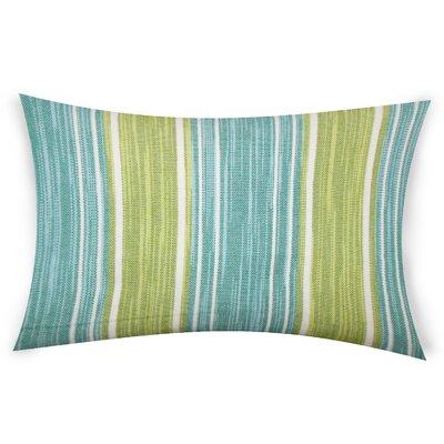 Haydel Cotton Lumbar Pillow Color: Green