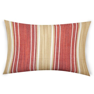 Haydel Cotton Lumbar Pillow Color: Red