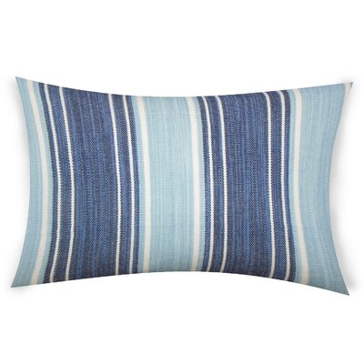 Haydel Cotton Lumbar Pillow Color: Blue