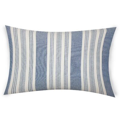 Ofarrell Cotton Lumbar Pillow Color: Blue