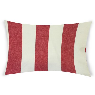Ogawa Cotton Lumbar Pillow Color: Red