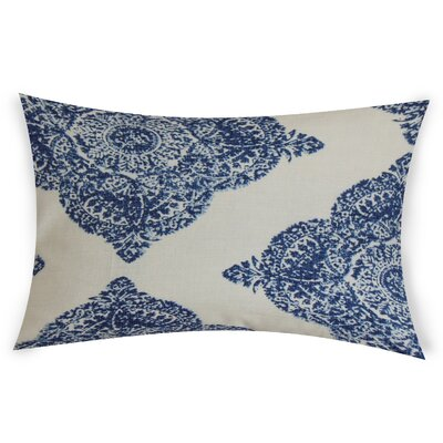 Erhart Cotton Lumbar Pillow Color: Blue