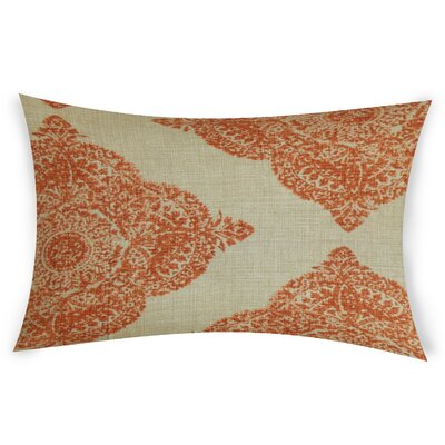 Erhart Cotton Lumbar Pillow Color: Orange