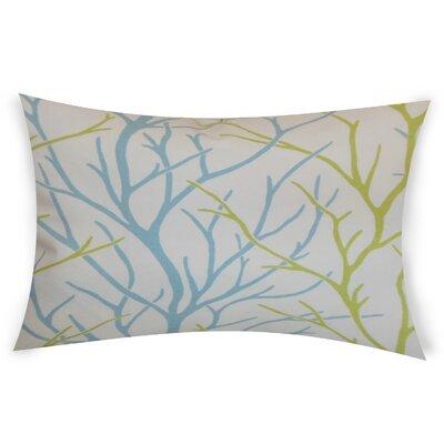 Glenaire Cotton Lumbar Pillow Color: Green