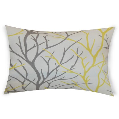 Glenaire Cotton Lumbar Pillow Color: Yellow