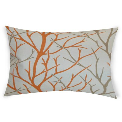 Glenaire Cotton Lumbar Pillow Color: Orange