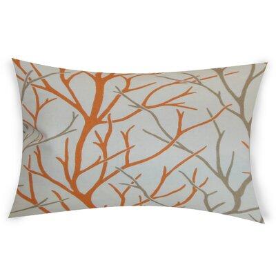 Glenaire Cotton Lumbar Pillow Color: Orange