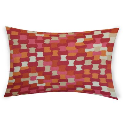Obregon Cotton Lumbar Pillow Color: Pink