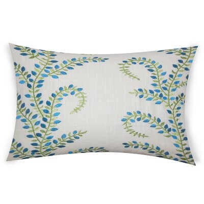 Hawley Linen Lumbar Pillow Color: Turquoise