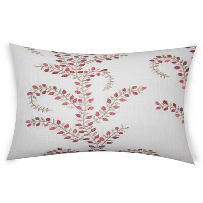 Hawley Linen Lumbar Pillow Color: Red