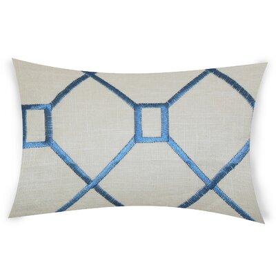 Comacho Cotton Lumbar Pillow Color: Blue