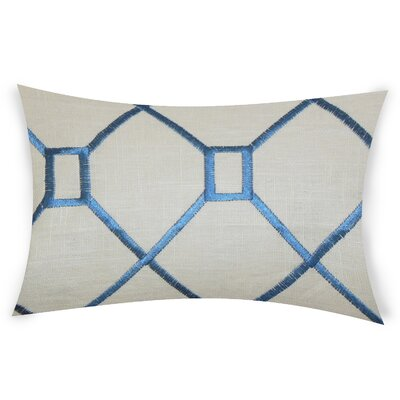 Comacho Cotton Lumbar Pillow Color: Navy