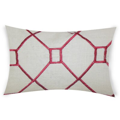 Comacho Cotton Lumbar Pillow Color: Red