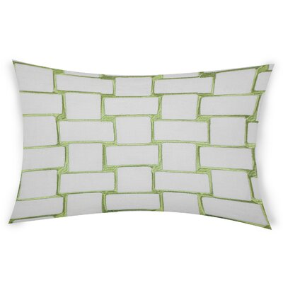 Colophon Lumbar Pillow Color: Green