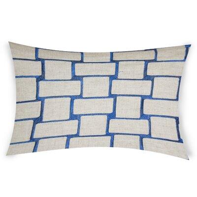 Colophon Lumbar Pillow Color: Blue