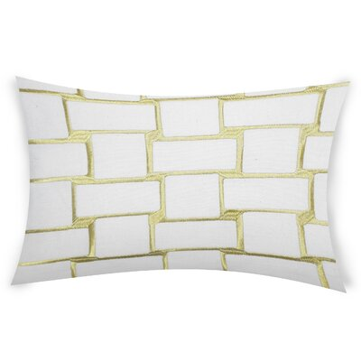 Colophon Lumbar Pillow Color: Light Green