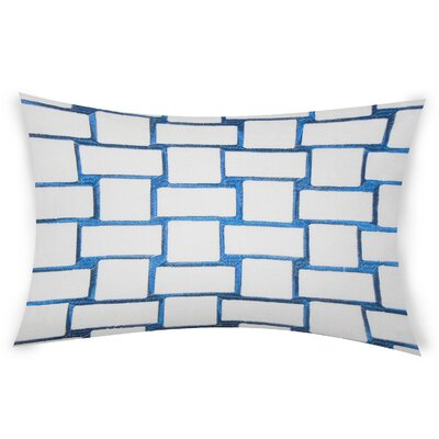 Colophon Lumbar Pillow Color: Dark Blue