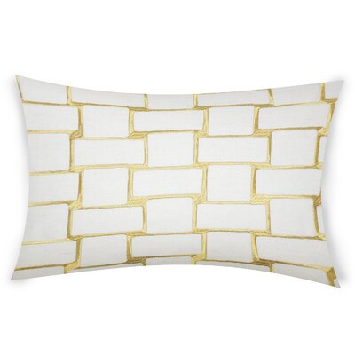 Colophon Lumbar Pillow Color: Yellow