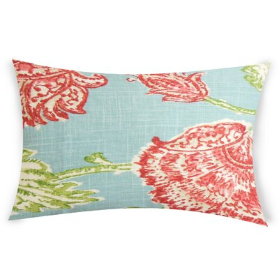 Espana Lumbar Pillow Color: Turquoise