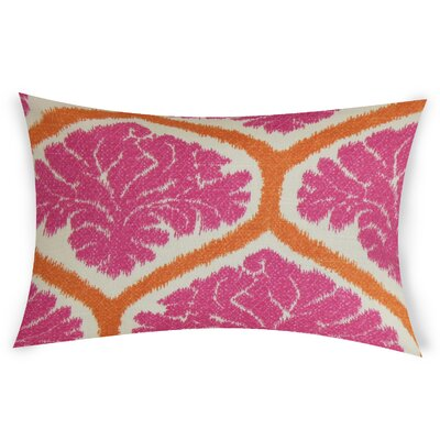 Esparza Cotton Lumbar Pillow Color: Pink
