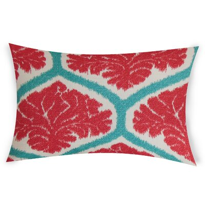 Esparza Cotton Lumbar Pillow Color: Red