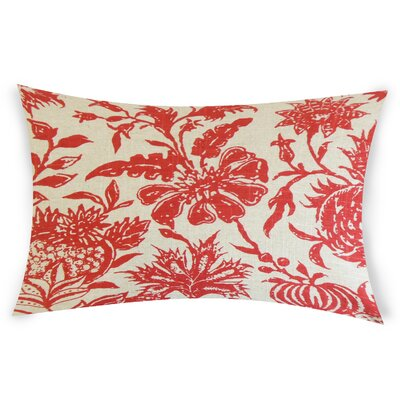 Espino Lumbar Pillow Color: Red