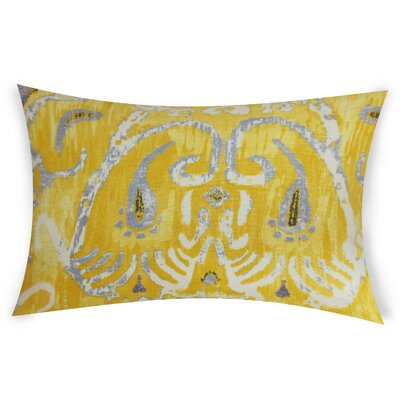 Odle Cotton Lumbar Pillow Color: Yellow