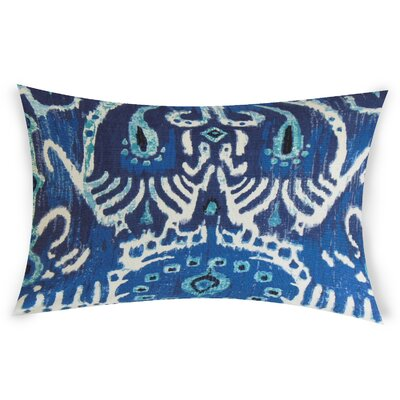 Odle Cotton Lumbar Pillow Color: Blue