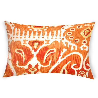 Odle Cotton Lumbar Pillow Color: Orange
