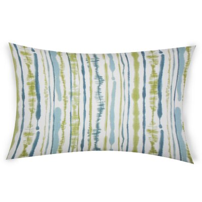Colyer Cotton Lumbar Pillow Color: Blue