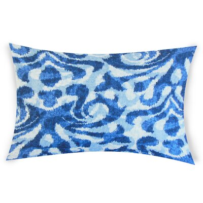 Oakely Cotton Lumbar Pillow Color: Blue