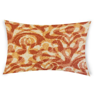 Oakely Cotton Lumbar Pillow Color: Orange