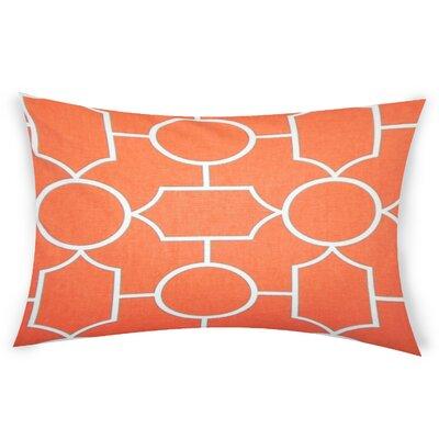 Colston Cotton Lumbar Pillow Color: Orange