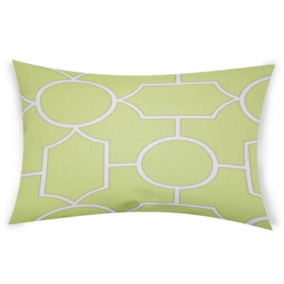 Colston Cotton Lumbar Pillow Color: Green