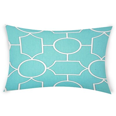 Colston Cotton Lumbar Pillow Color: Turquoise