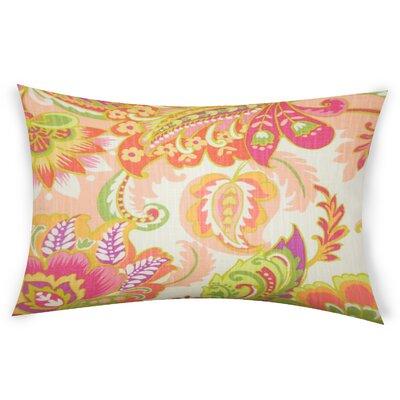 Oakhill Cotton Lumbar Pillow Color: Orange