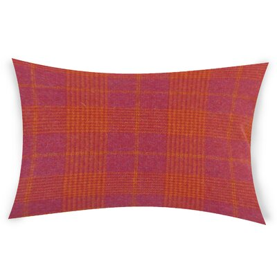 Wang Wool Lumbar Pillow Color: Red